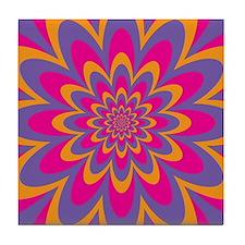 Pop Art Flower Tile Coaster