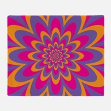 Pop Art Flower Throw Blanket