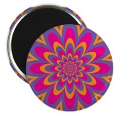 Pop Art Flower Magnets