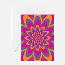 Pop Art Flower Greeting Cards