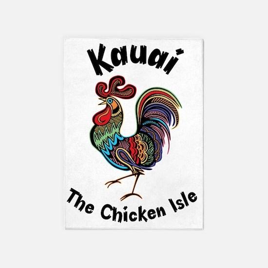 Kauai - The Chicken Isle 5'x7'Area Rug