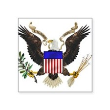 "Cute American eagle Square Sticker 3"" x 3"""