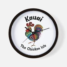 Kauai - The Chicken Isle Wall Clock