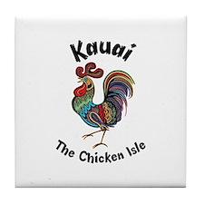 Kauai - The Chicken Isle Tile Coaster