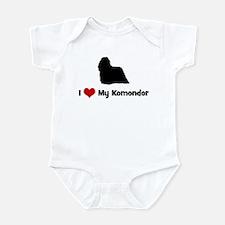 I Love My Komondor Infant Bodysuit