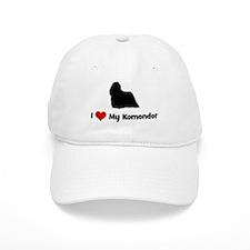 I Love My Komondor Baseball Cap