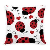 Ladybug Woven Pillows