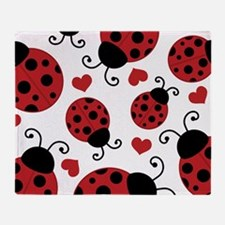 ladybug lover Throw Blanket