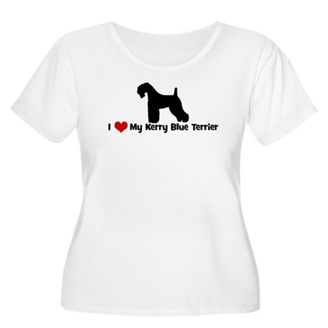 I Love My Kerry Blue Terrier Women's Plus Size Sco