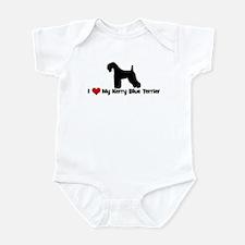 I Love My Kerry Blue Terrier Infant Bodysuit