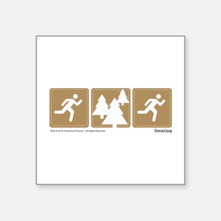 Run Forrest Run Sticker