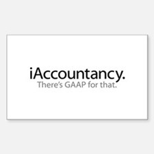 iAccountancy - there's GAAP fo Sticker (Rectangle)