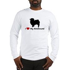 I Love My Keeshound Long Sleeve T-Shirt