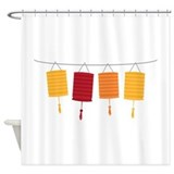 Chinese lantern Shower Curtains