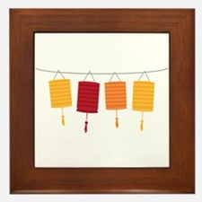 Chinese Lanterns Framed Tile