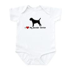 I Love My Border Terrier Infant Bodysuit