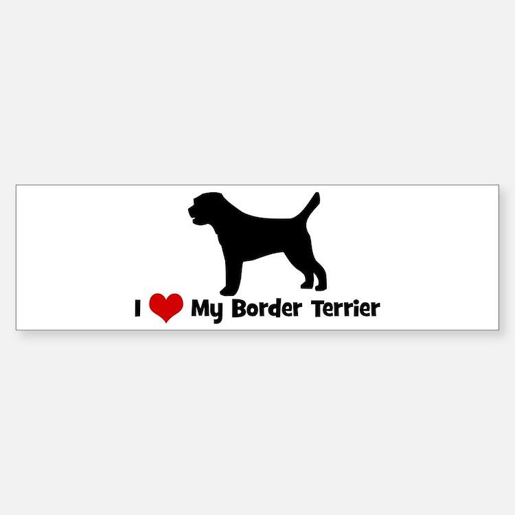 I Love My Border Terrier Bumper Bumper Bumper Sticker