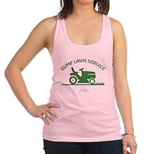 Gump Lawn Service Racerback Tank Top