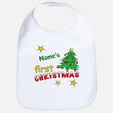 Custom First Christmas Bib