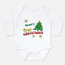 Custom First Christmas Onesie Romper Suit