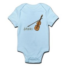 Violin And Musical Notes Body Suit