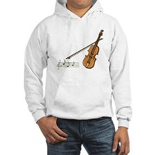 Violin And Musical Notes Hoodie