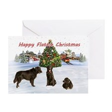 Flatcoat Christmas (pk Of 10) Greeting Cards