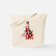Vintage Flag Art Tote Bag