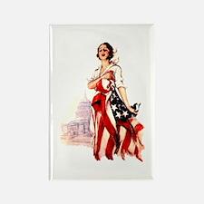 Vintage Flag Art Rectangle Magnet