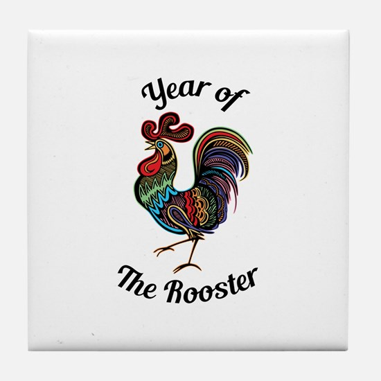 Year of the Rooster Tile Coaster