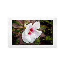 White Hibiscus 1 Area Rug