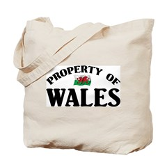 Property Of Wales Tote Bag