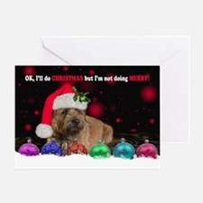 Grumpy Border Terrier Dog Card Greeting Cards