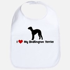 I Love My Bedlington Terrier Bib