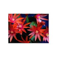 Red Sunrise Cactus Flower 5'x7'Area Rug