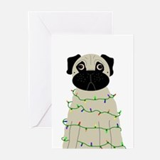 Cute Pug christmas Greeting Cards (Pk of 20)