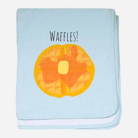 Waffles! baby blanket