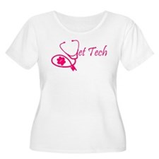 vet tech stethoscope pink Plus Size T-Shirt