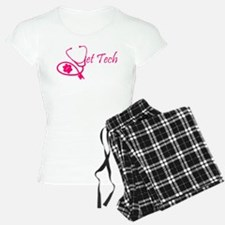 vet tech stethoscope pink Pajamas