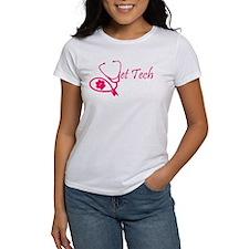 vet tech stethoscope pink T-Shirt