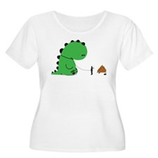 Stop pooping on people Plus Size T-Shirt