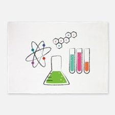 Chemistry Atoms 5'x7'Area Rug