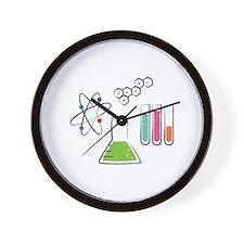 Chemistry Atoms Wall Clock