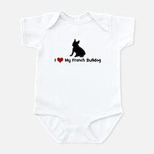 I Love My French Bulldog Infant Bodysuit