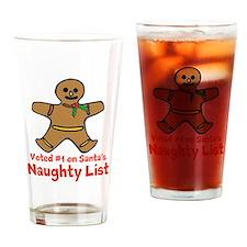 Naughty Ginger Drinking Glass
