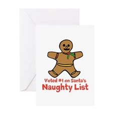 Naughty Ginger Greeting Cards