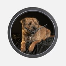 Border Terrier Digitally Painted, Wall Clock