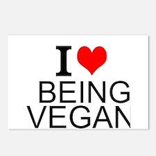 I Love Being Vegan Postcards (Package of 8)