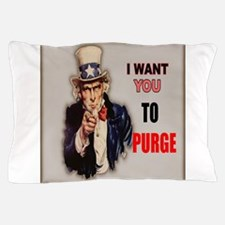 i want you to purge uncle sam Pillow Case