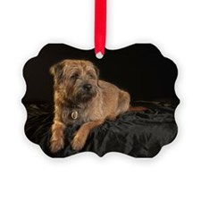 Border Terrier Digitally Painted, Ornament